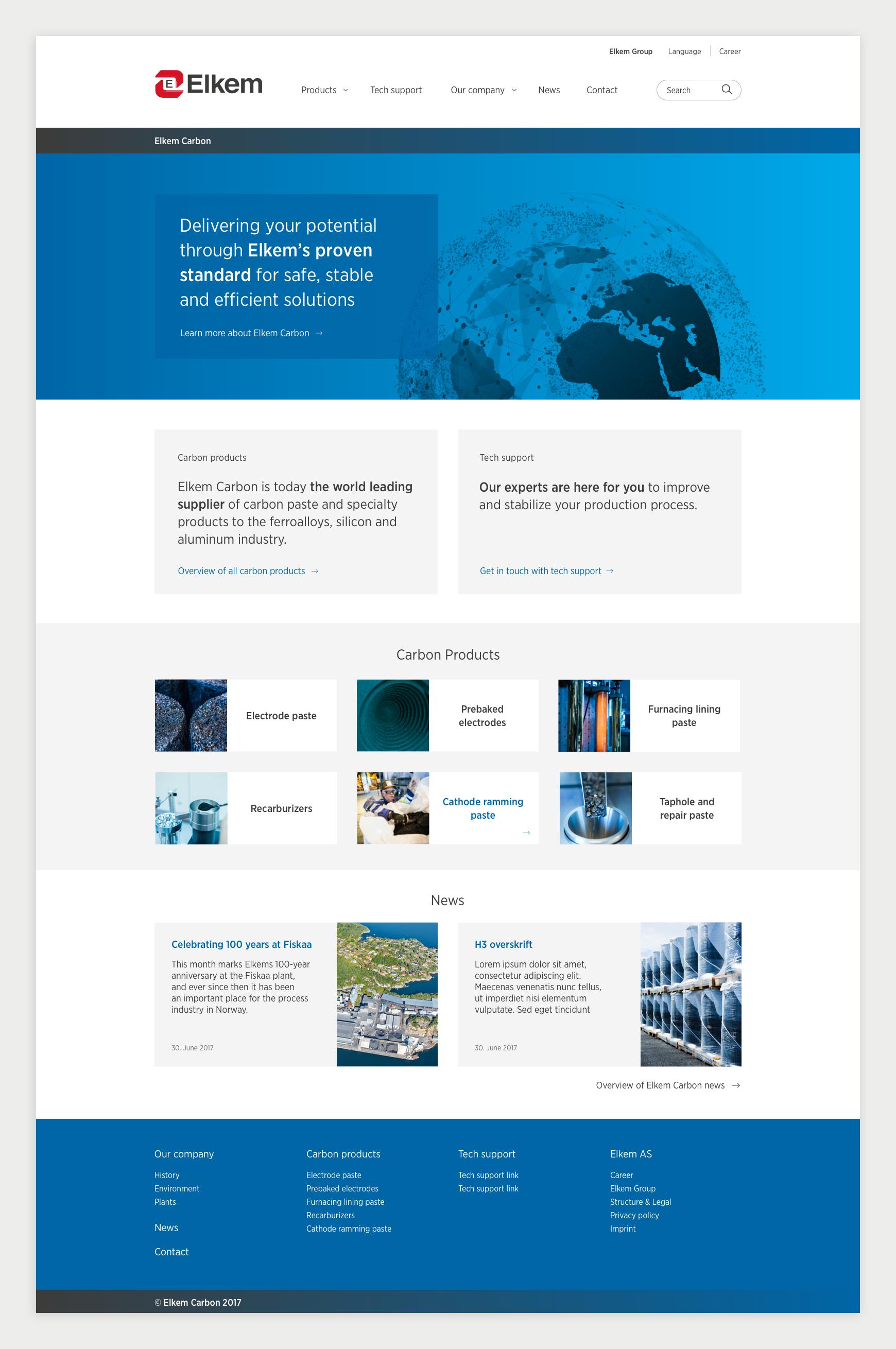 Elkem Carbon forside nettside