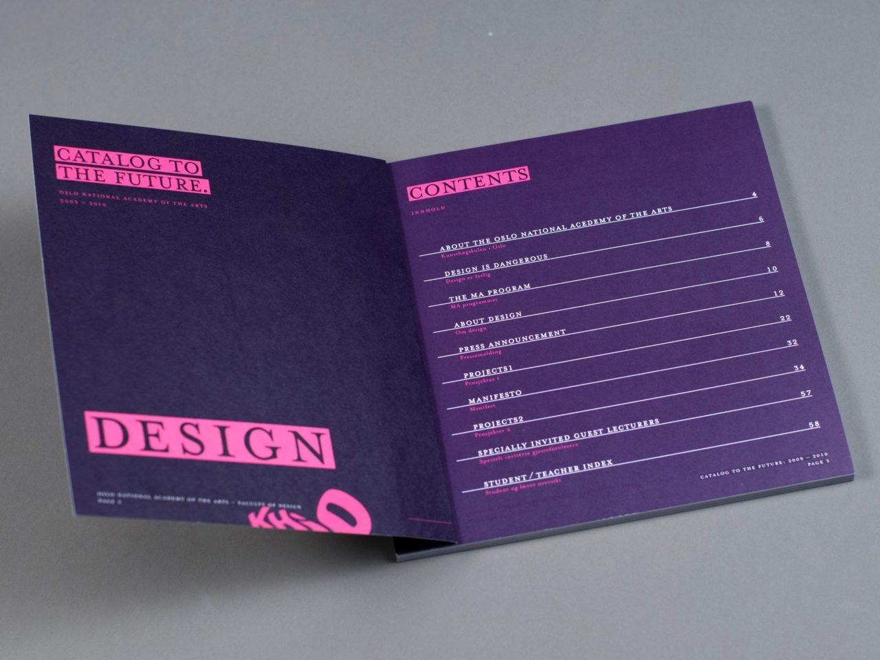 KHiO katalog innholdsfortegnelse