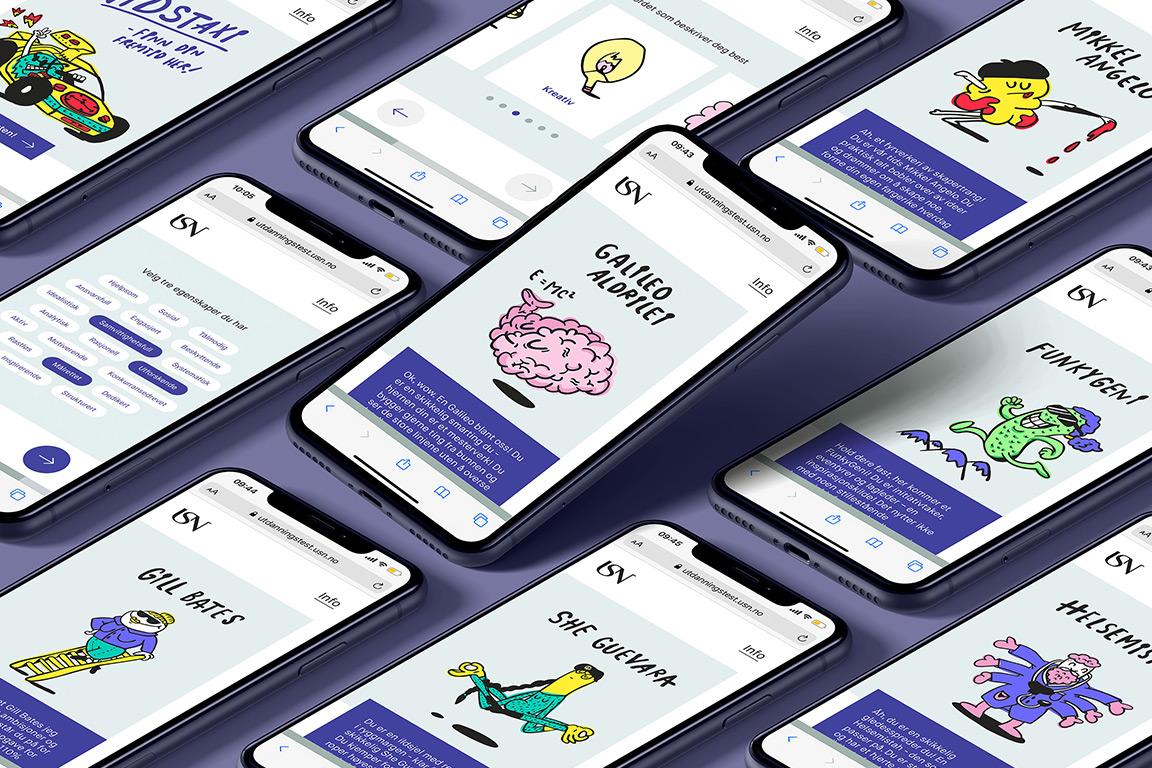 Mobilbilder fra utdanningstesten